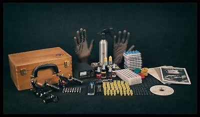 UK Tattoo Kit Sets full SAFE Power supply professional USA INK MACHINES Guns Pro 3