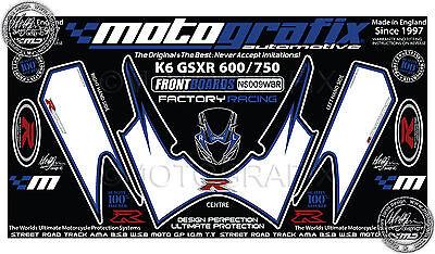 Suzuki GSXR 600 750 2006 2007 Rear Fairing Number Board Motografix Gel Protector