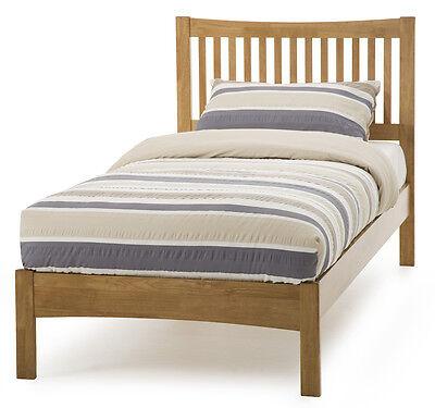 Hevea Hard Wood Bed Frame HONEY OAK Finish, OPAL WHITE, or GREY Finish Bedstead 7
