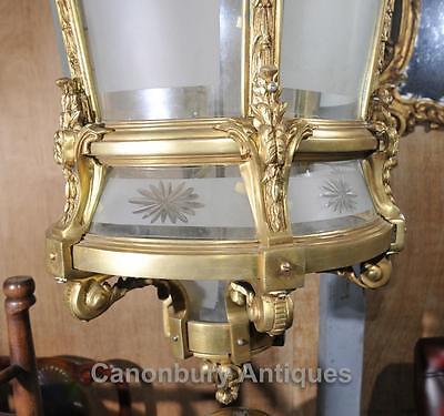 XL French Empire Ormolu Lantern Light Chandelier Interiors Lighting 7