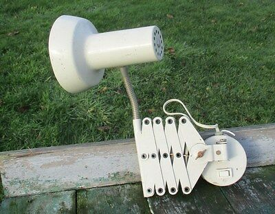 Vintage Industrial Machine Age Scissor Wall Lamp Expanding Mounted Adjustable 2