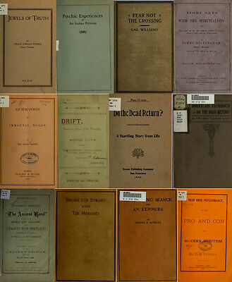 300 Rare Books On Spirits, Medium, Séances, Communication With The Dead On Dvd 11