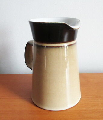 "Denby Country Cuisine 8 oz Creamer Pitcher 5"" Tan Brown Stoneware 1980s England 3"