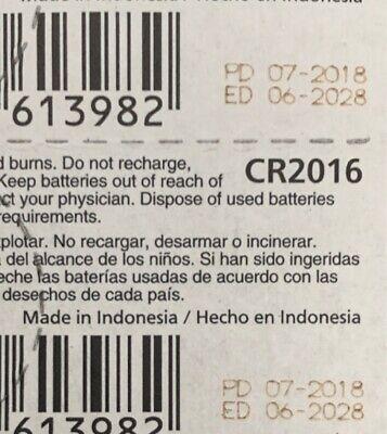 2 Panasonic CR2016 Battery 3V Authorized seller. Exp. 2028 USA Free Ship. 2