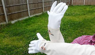 Beekeeping gloves Beekeeper protective Bee gloves 100% Leather & Cotton Zean 8