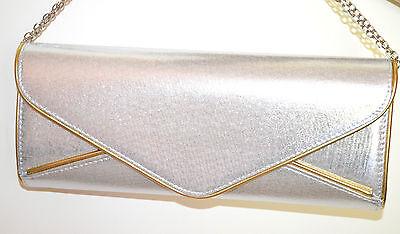 ... POCHETTE ARGENTO ORO donna dorata borsello borsa elegante bag sac bolsa  A44 be5bf5f96dd