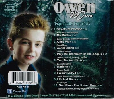 "OWEN MAC Brand New CD ""ESPECIALLY FOR YOU""  - IRISH COUNTRY 2"
