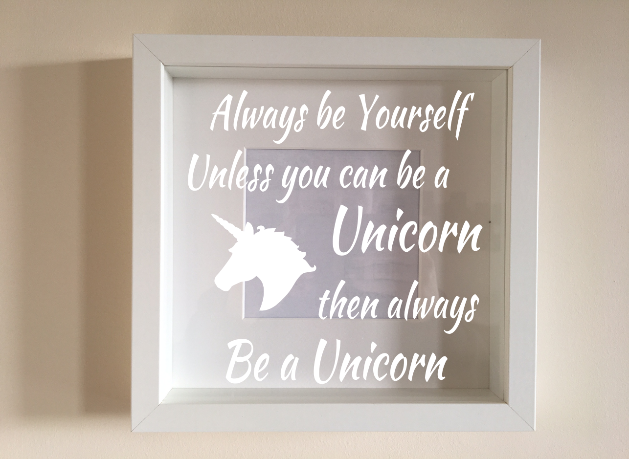 IKEA RIBBA Box Frame Personalised Vinyl Wall Art Quote Dad remembering you