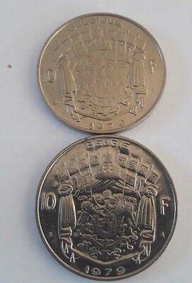 10 Francs, 10 Frank 1969 -1979 Belgique Belgïe Belgium Baudouin FR NL KM# 155 12
