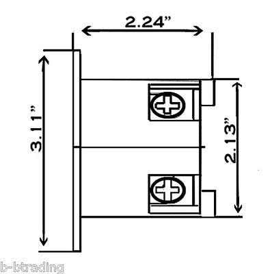 nema l1430 30 amp 125/250v 3 pole 4 wire flanged inlet