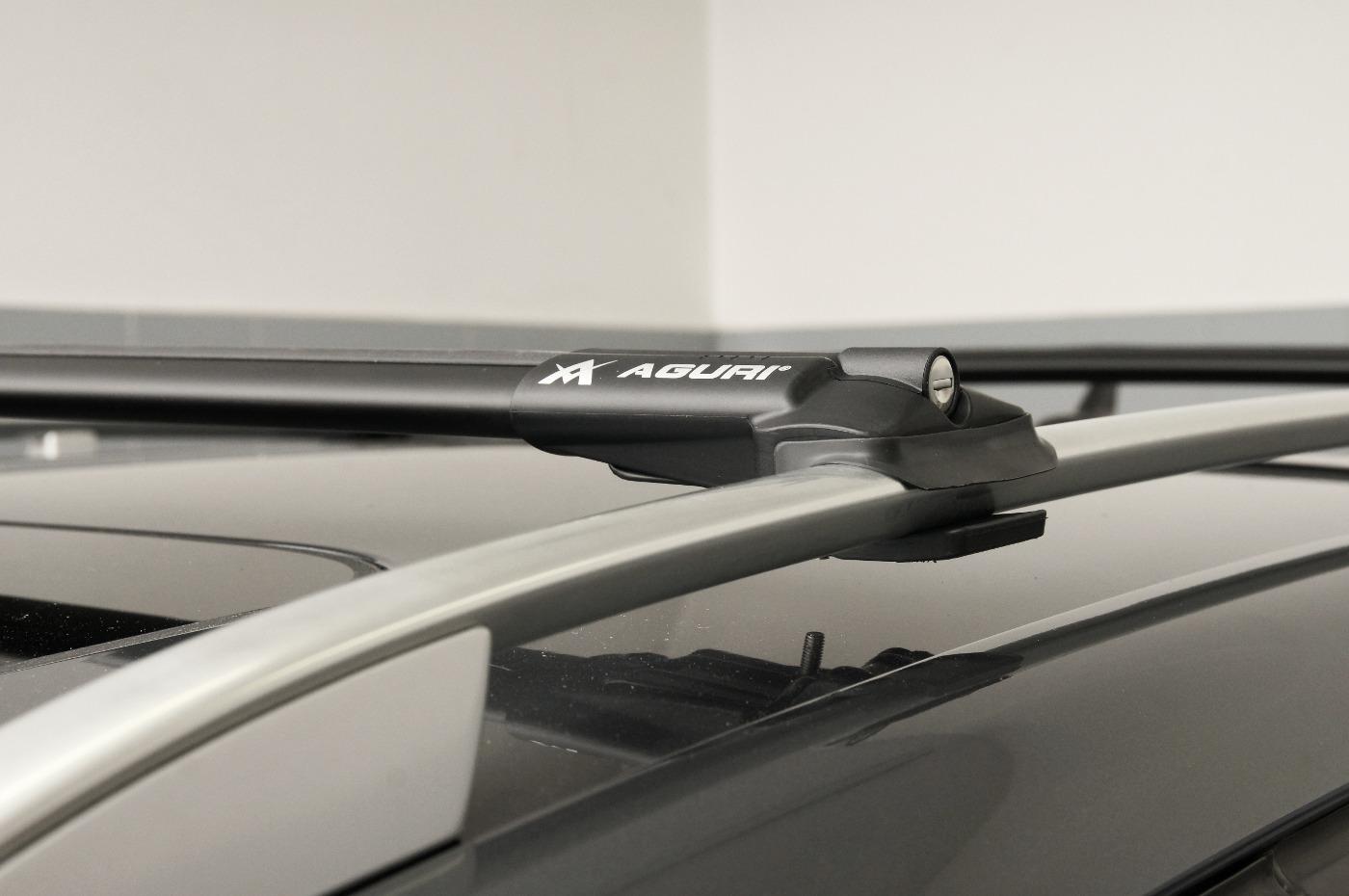 Für Honda FRV FR-V 08-09 mit offener Dachreling Dachträger Alu schwarz