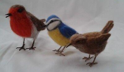 Needle felting kit British Birds British wool Unboxed 2