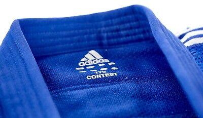 adidas Judo Anzug Contest blauSilberne Streifen, J650B