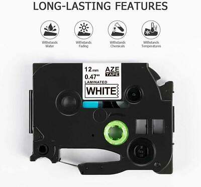 Compatible Brother TZ-231 P-Touch Black On White Label Tape 12mm x 8m TZe-231 4