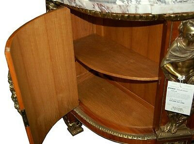 French Louis XVI Cabinets, a Pair, Large with Marble Top #5969 7