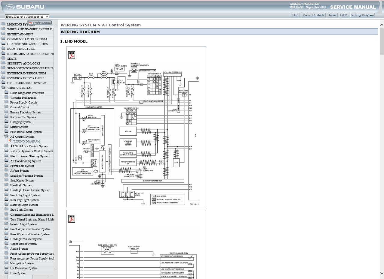 Workshop Manual Service Repair Guide For Subaru Forester 2008 2013 Wiring Eur 7 76 Picclick Fr
