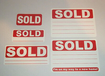 Red SOLD Stickers / Swing Tag Labels / Sticky Labels - Removable Adhesive 2
