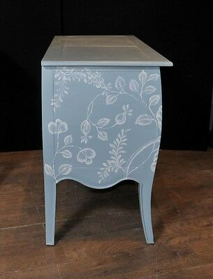 Pair French Painted Commodes Chest Drawers Shabby Farmhouse 8