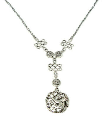 Antique Necklace with Three headed Dragon - Game of Thrones inspired Jewelry 2
