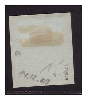 DNG ° Friedrich Wilhelmshafen 14.12.09 BLAU Kab.- Briefstück  gepr. BPP