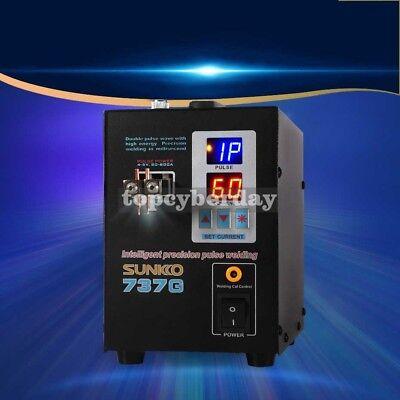 737G Spot Welder 110V 1.5KW Battery Spot Welding Machine LED Light for 18650 4