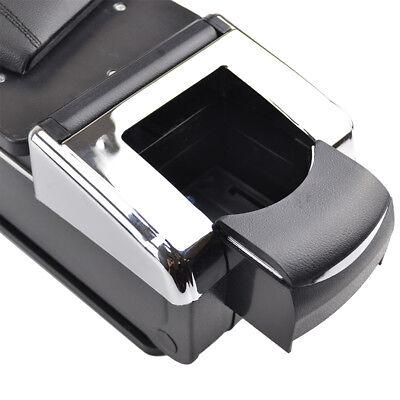 Car Armrest Storage Box PU Leather Rotatable Arm Rest Center Console 8