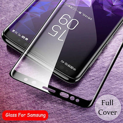 For Samsung Galaxy S9 S8 Plus Note 9 4D Full Cover Temper Glass Screen Protector 3