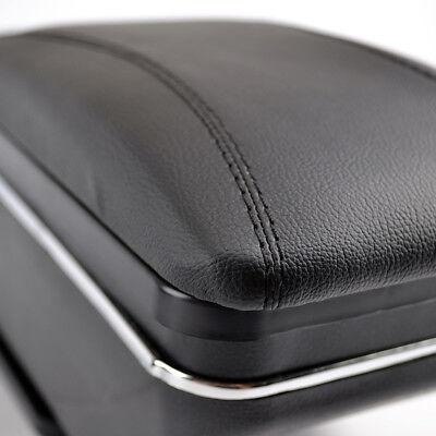 Car Armrest Storage Box PU Leather Rotatable Arm Rest Center Console 9