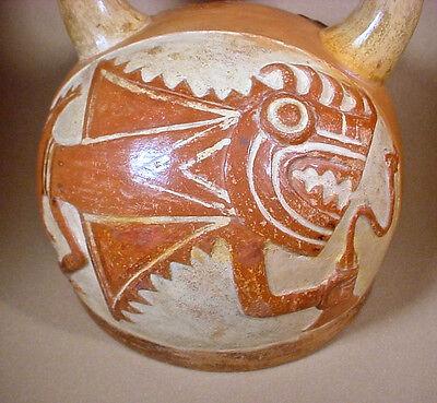 Pre-Columbian MOCHE FISH DEMON S/S VESSEL w/COA 8
