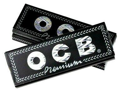 OCB Black Premium 1 1/4 Thin Rolling Papers 50 Lvs/Pk Buy4 @ Only $1.65/Pk! USA 3