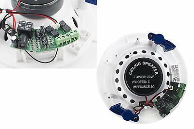 Coppia casse altoparlante audio bluetooth soffitto incasso casa 20w P8055 4