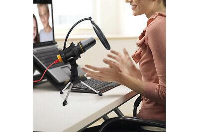 Microfono condensatore streaming con filtro cavo jack registrazione treppiede 4