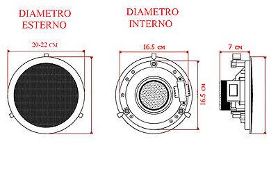 Coppia casse altoparlante audio bluetooth soffitto incasso casa 20w P8055 6