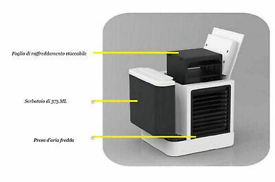 Mini Climatizzatore Condizionatore Ad Acqua Portatile Ventilatore Vento Usb New 5