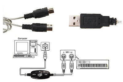 Cavo da usb a interfeccia midi adattatore bidirezionale in out pc audio tastiera 2