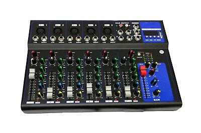 PDR*MIXER AUDIO PROFESSIONALE 7 CANALI USB CON ECHO-DELAY dj karaoke pianobar 3