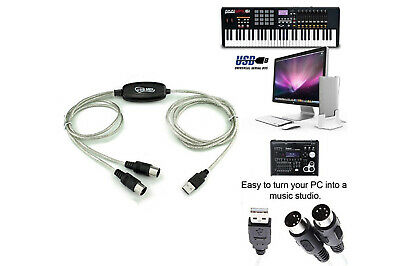 Cavo da usb a interfeccia midi adattatore bidirezionale in out pc audio tastiera 3