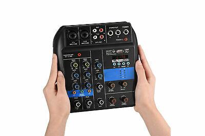 mixer audio BT consolle professionale 4 canali usb karaoke mic line mp3 aux rca 3