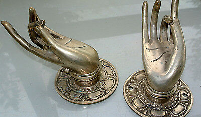 """2 Pull handle hands amazing brass silver door old style knob hook 3 """"old style B 3"""