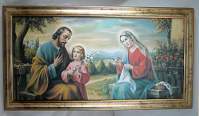 Jesús Maria & Joseph Iconos Imagen 77x42 Bebé Jesús Holy Family sacra famiglia 2