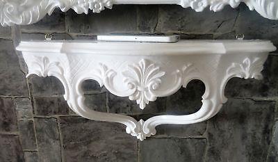 Wall Console/Spiegelkonsolen/Wall Shelf Baroque Antique White B: 45cm cp68 7