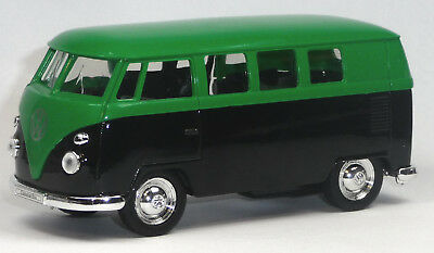 VW Bulli T1 Doppelkabine Plane orange schwarz Modellauto 1:37 Spritzguss WELLY