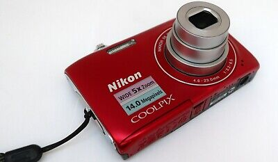NIKON COOLPIX S3100 14mp 4,6-23,0mm. Wide 5x zoom Nikkor HD movie 2,7-in LCD VR 6