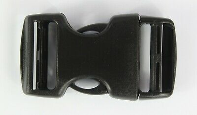 Double Side Release Buckles Black Plastic Clips Rucksacks Replacement All Sizes 6
