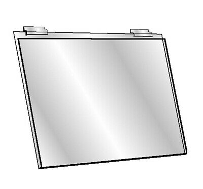 Set Of 12 Pc 5-1/2''H x 7''W Clear Acrylic Slatwall Lucite Frame Retail Display 3