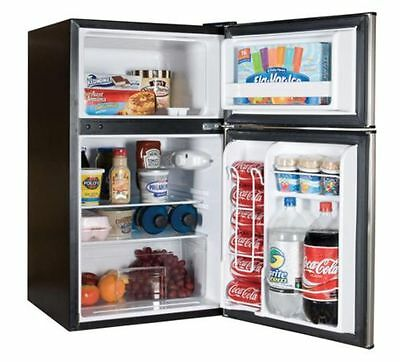 ... Compact Refrigerator Mini Freezer 2 Door College Home Office Dorm Fridge  NEW