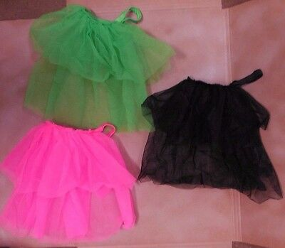 NWT DANCE Costume CanCan Skirt 3 colors ch//ladies sizes ruffled organdy on black