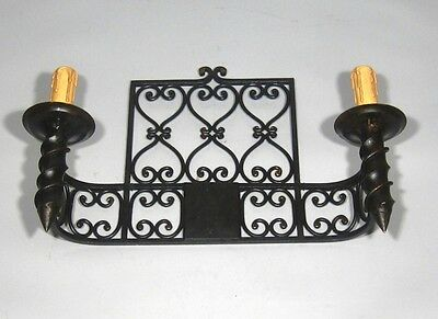 "Large Vintage French Wrought Iron Sconce, ""Chateau"" Style, 19 x 13 inches 5"
