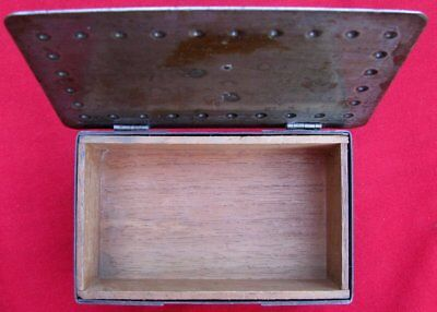 Antique Signed Scarce Small Hand Wrought Iron Box  By Goberg ~ Circa 1915 11