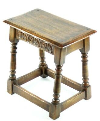 Antique English Carved Oak Joint Stool 19th C - FREE Shipping [PL4869] 4